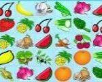 Игра Маджонг фрукты и овощи  — играть бесплатно и во весь экран